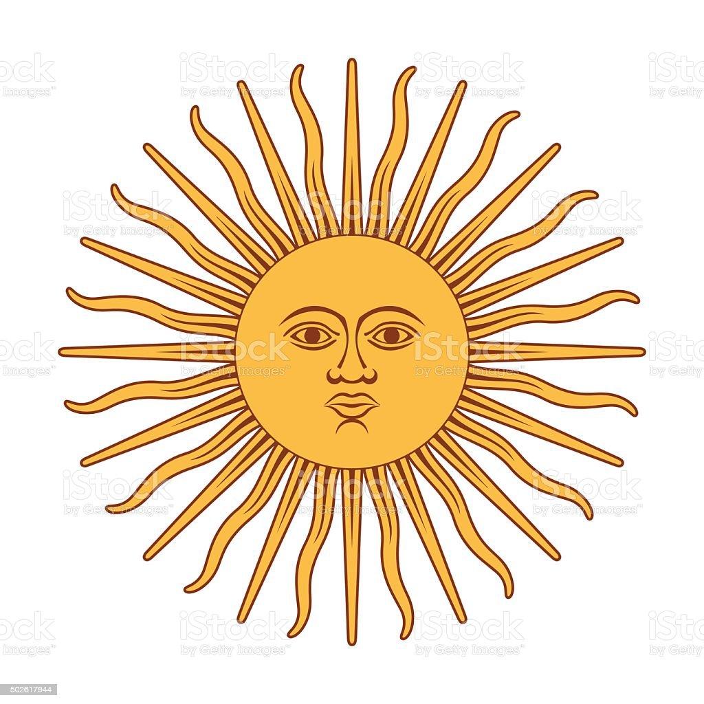 Argentna sun vector art illustration
