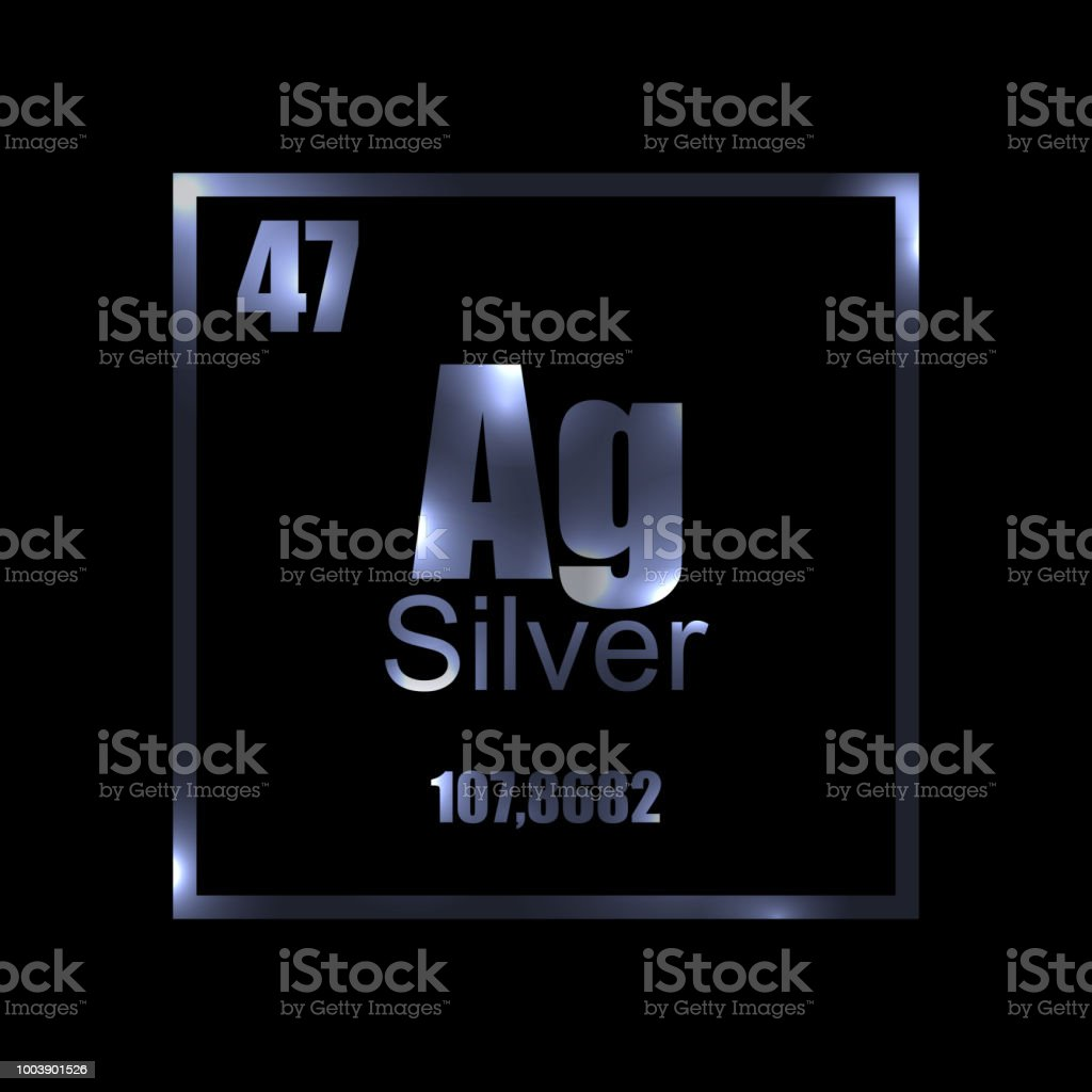 Argentum silver periodic table element on black stock vector art silver periodic table element on black royalty free argentum silver periodic table element urtaz Image collections