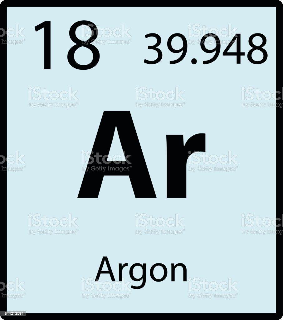 Argon periodic table element color icon on white background vector argon periodic table element color icon on white background vector royalty free stock vector art gamestrikefo Choice Image