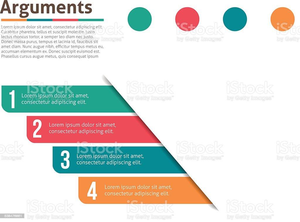 Argument layout for infographics vector art illustration