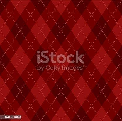 istock Argyle Christmas seamless vector pattern 1190134550