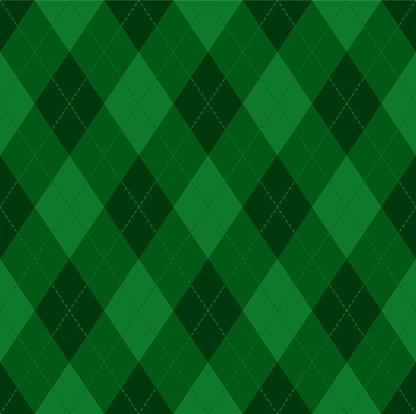 Argyle Christmas seamless vector pattern