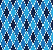 Argyle Diagonal Diamond Seamless Blue Pattern