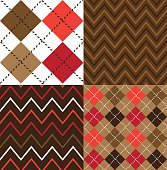 Argyle cloth fabric designs in brown and pink colors.