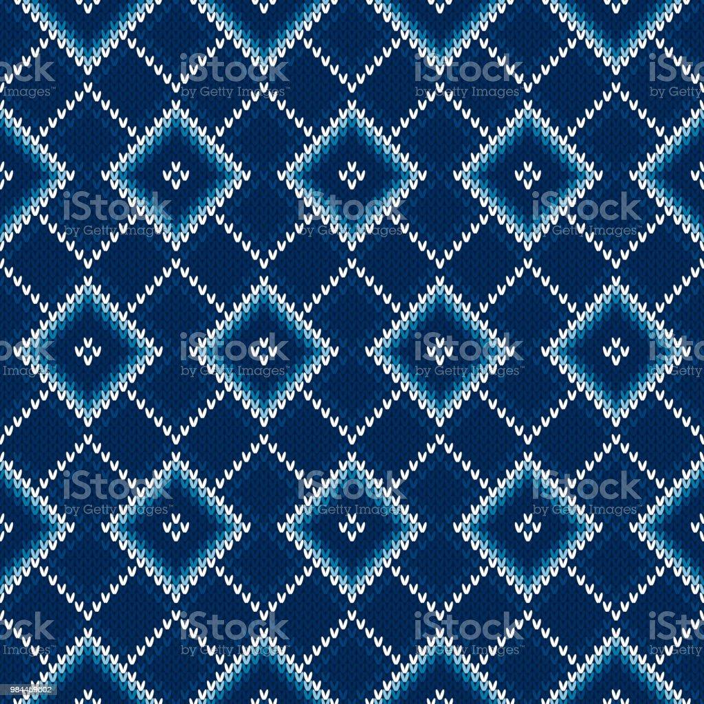 Ilustración de Argyle Tejer Patrón Transparente Diseño Del Suéter ...