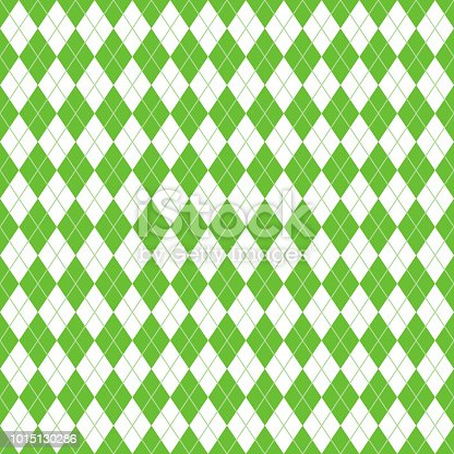 Classic and clean lime green and white argyle