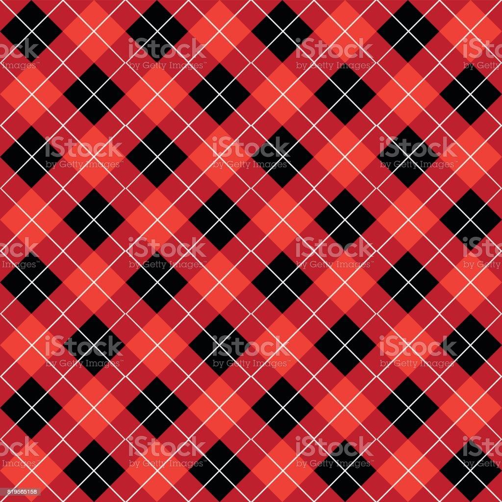 Argyle Seamless Texture Pattern vector art illustration