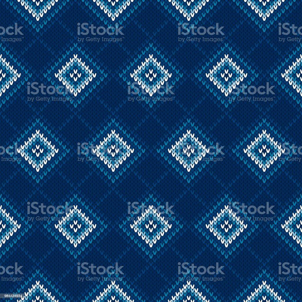 Ilustración de Argyle Suéter Hecho Punto Patrón Textura De Tejido ...