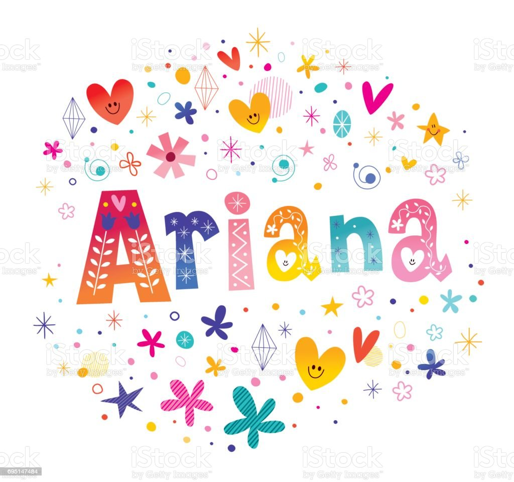 Ariana Girls Name Stock Vector Art & More Images of Adult ...