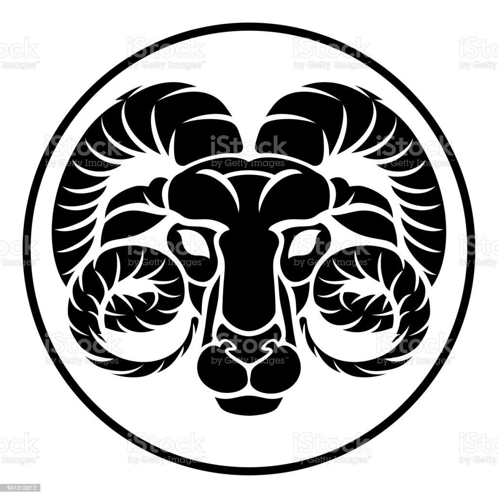 Aries Horoscope Zodiac Sign Stock Vector Art More Images Of