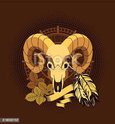 istock Aries sacred animal emblema 516000152
