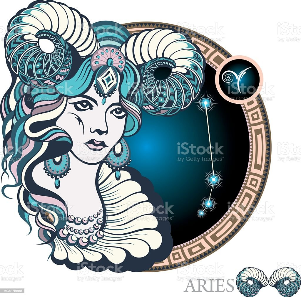 Aries Zodiac sign Adult stock vector