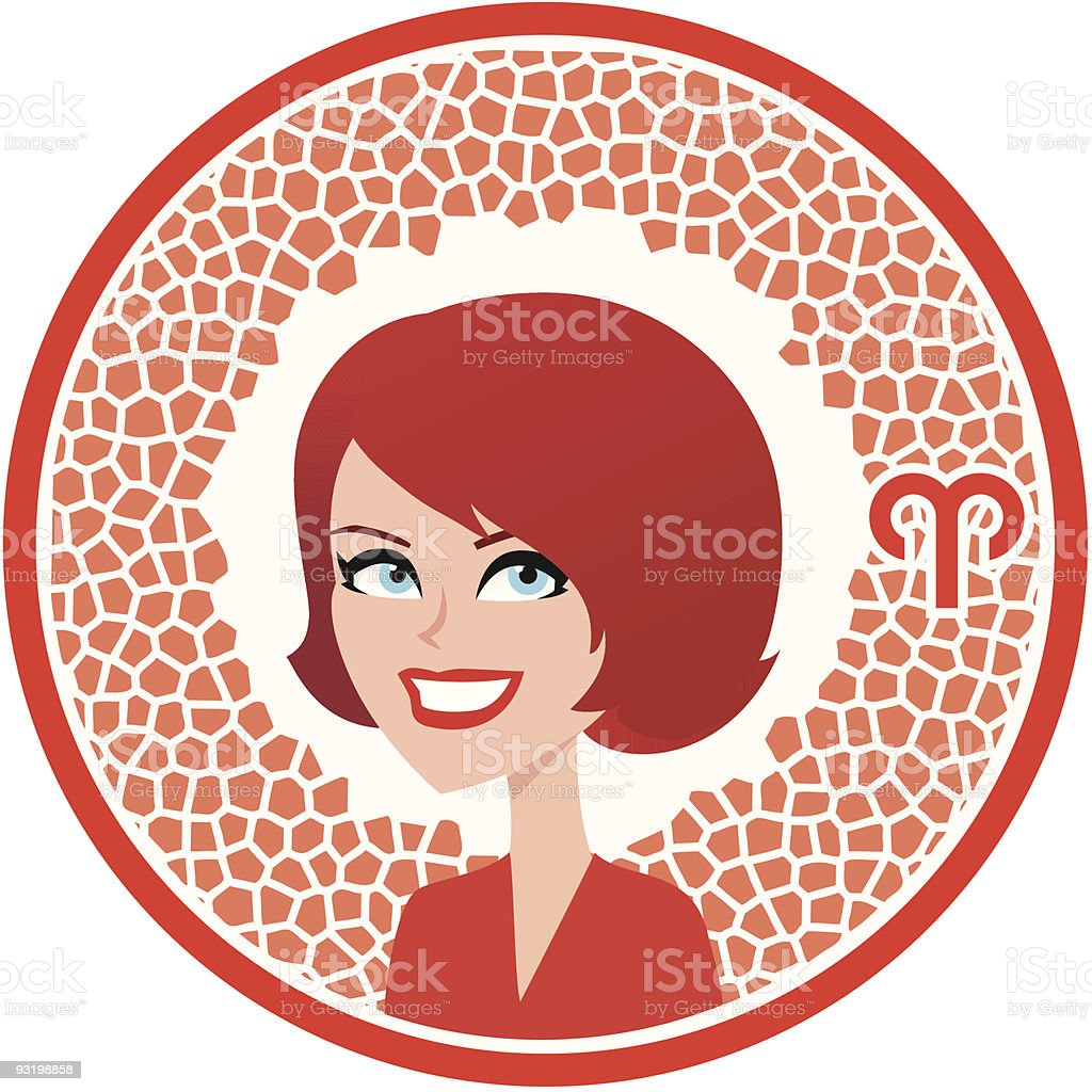 Aries Zodiac Icon Collection royalty-free stock vector art