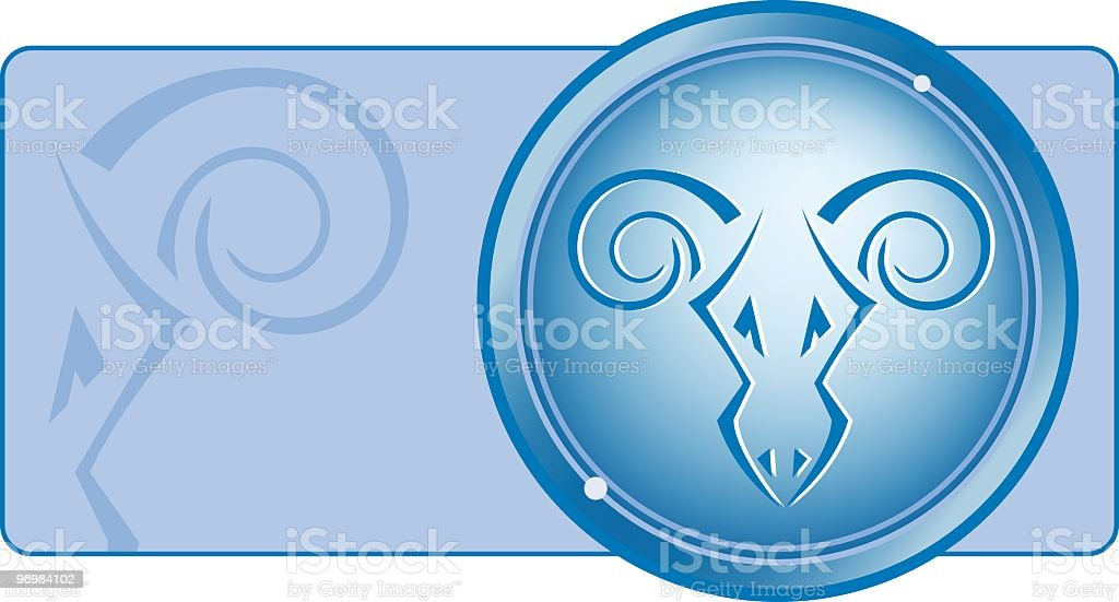 aries zodiac series royalty-free stock vector art
