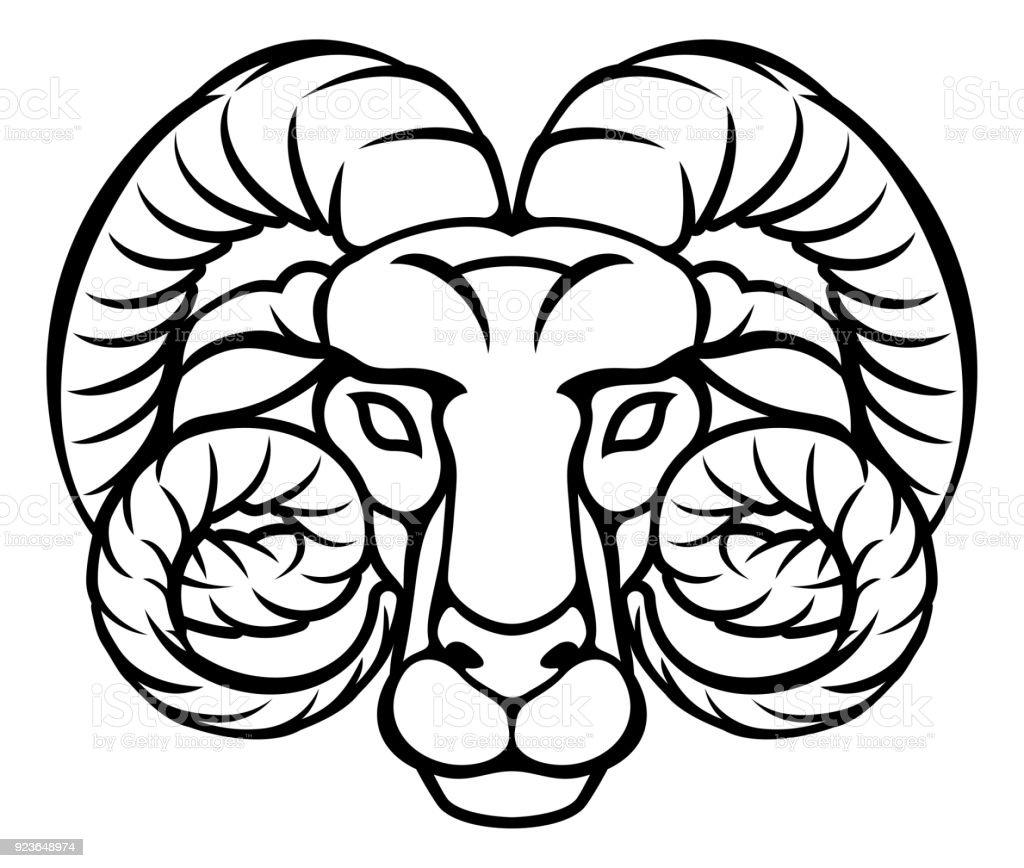 Aries Zodiac Sign Ram Stock Illustration - Download Image