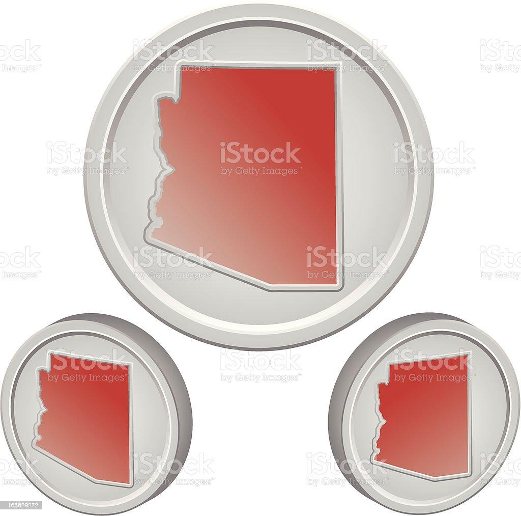 Arizona Button royalty-free stock vector art