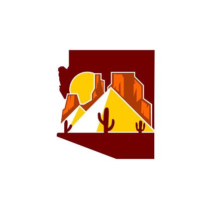 arizona desert pyramid icon