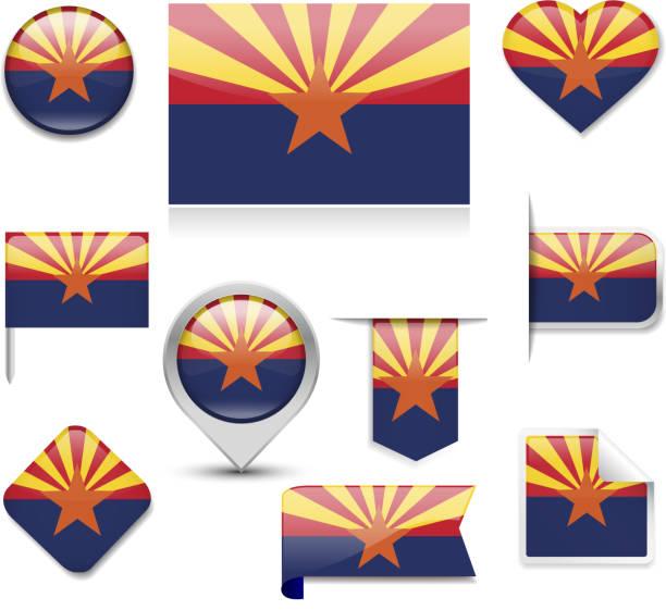 Arizona Flag Collection vector art illustration
