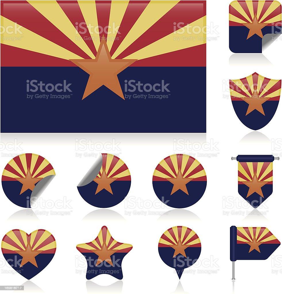 Arizona flag set royalty-free stock vector art