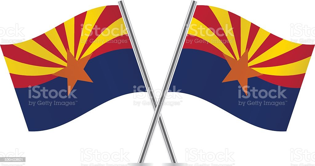 Arizona flags. Vector. vector art illustration