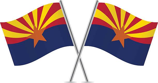 Arizona flags. Vector. vector art illustration