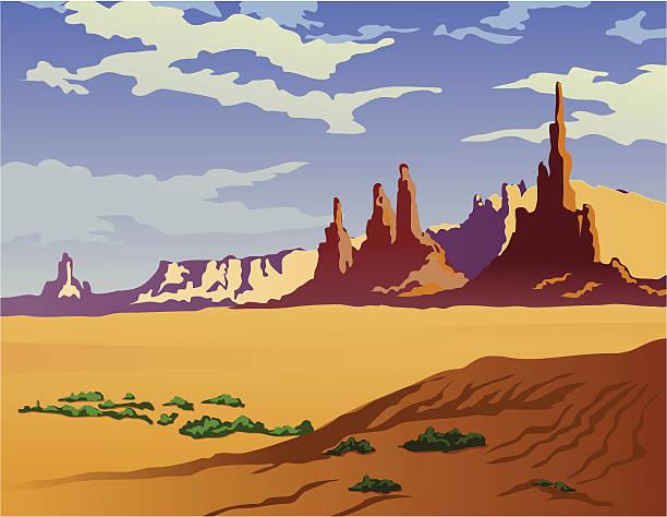 Arizona Landscape vector art illustration
