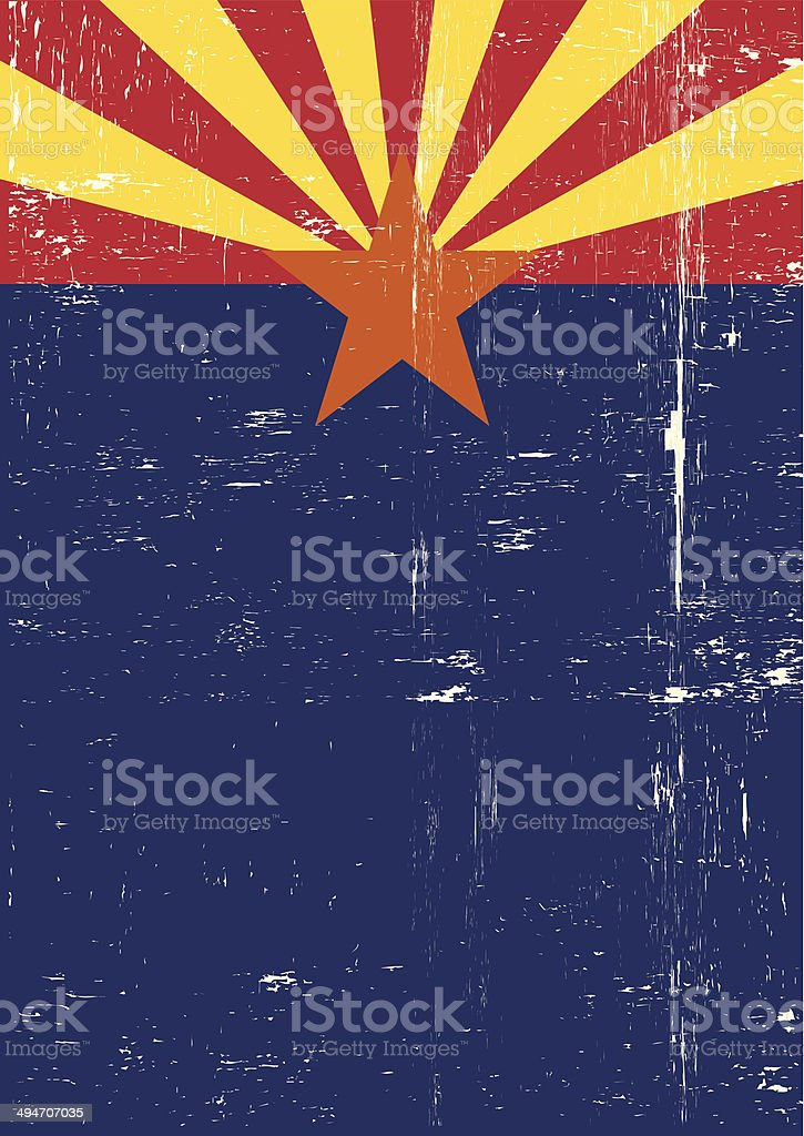 Arizona poster vector art illustration