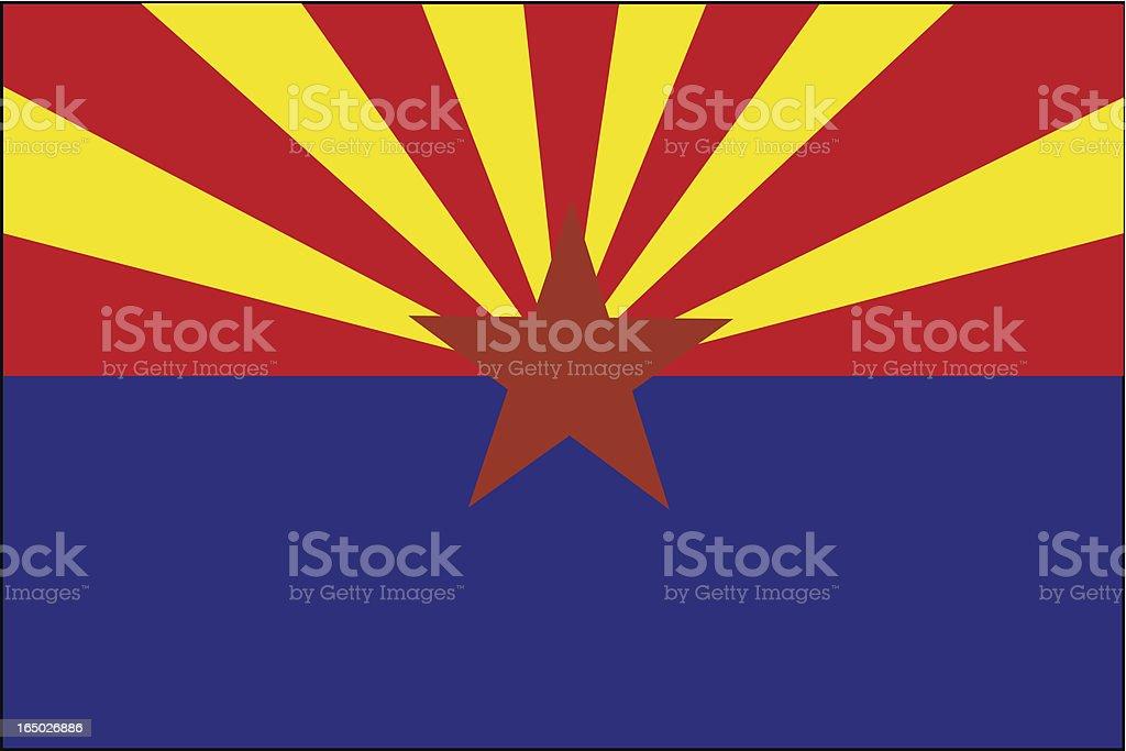 Arizona State Flag  ( VECTOR ) royalty-free stock vector art