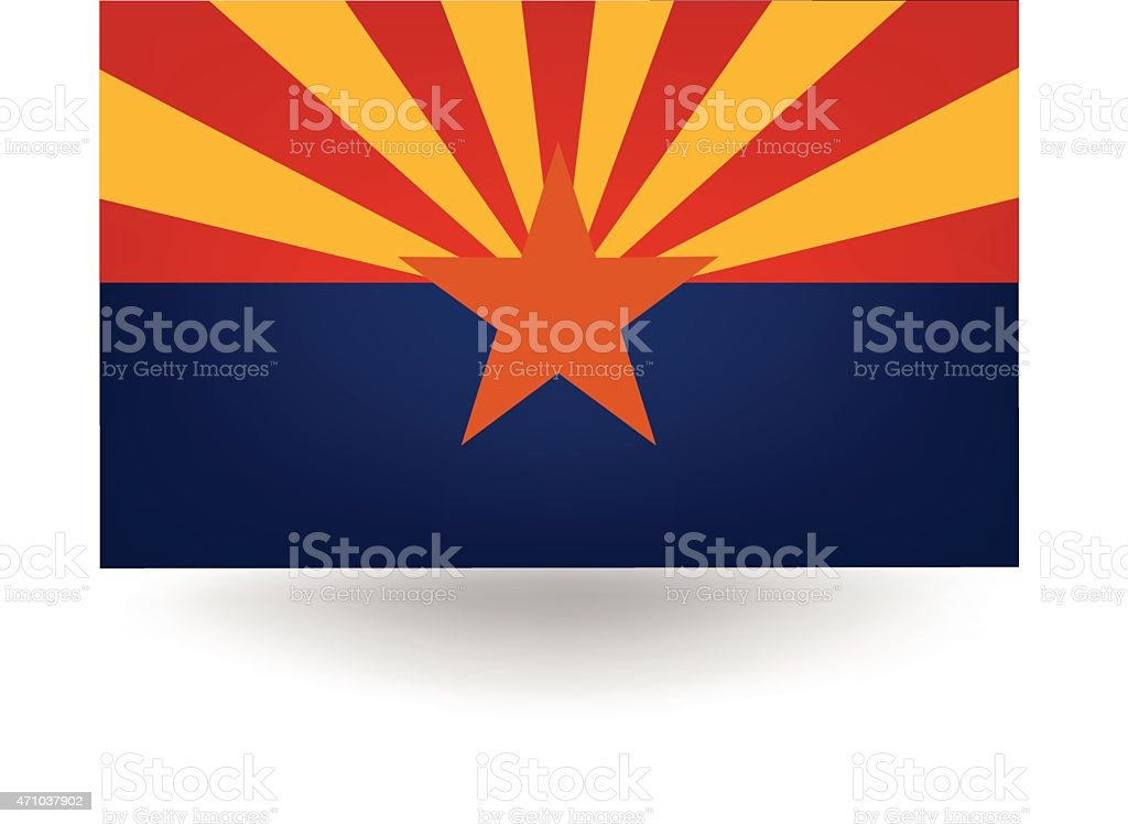 Arizona State Flag vector art illustration