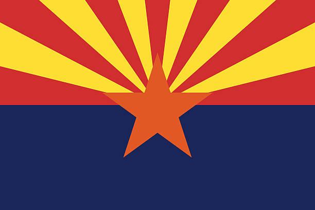 Arizona State Flag vector art illustration