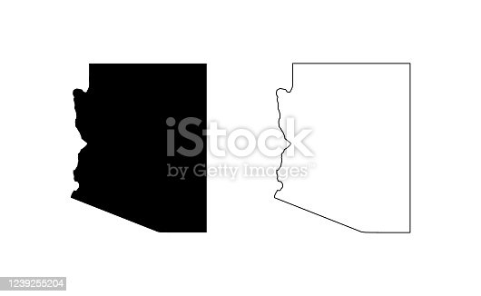 state silhouette, line style. America illustration, American vector outline isolated on white background