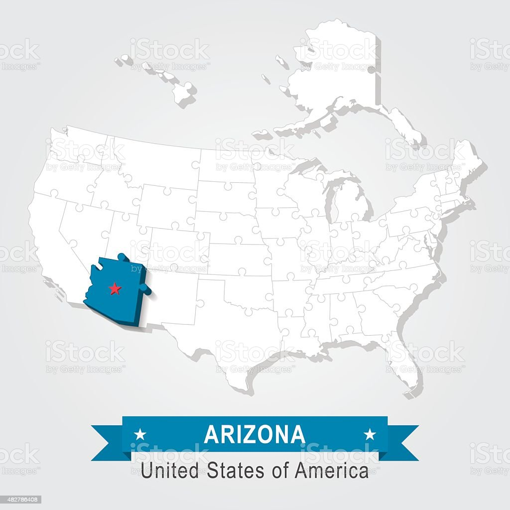 Arizona State University Usa Administrative Karte Stock ...