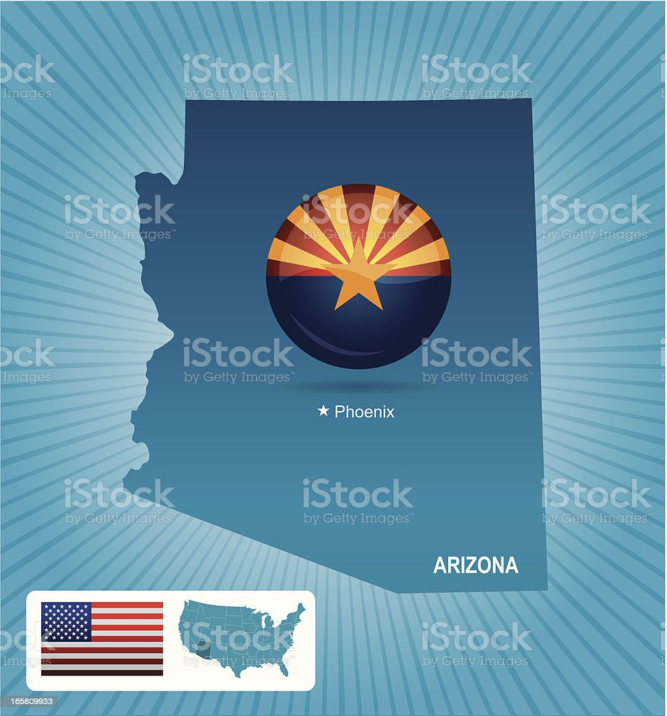 Arizona state royalty-free arizona state stock vector art & more images of american flag