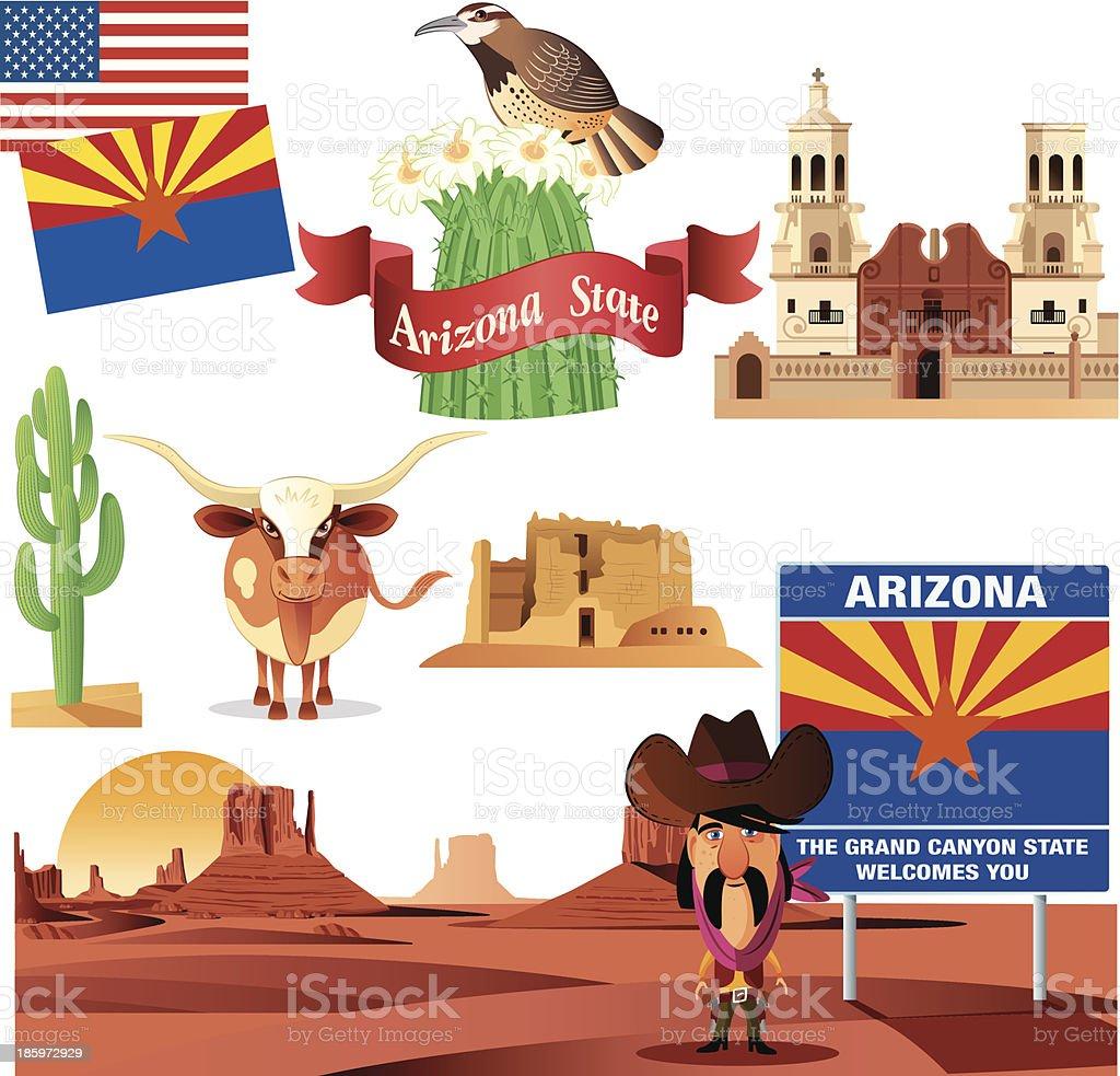 Arizona Symbols royalty-free stock vector art
