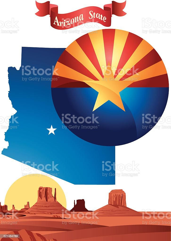 Arizona vector art illustration