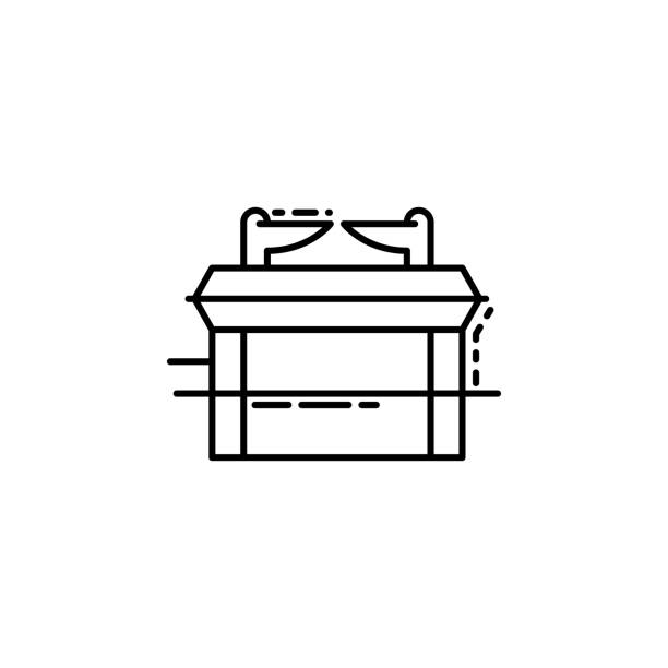 Ark of Covenant icon. Element of Jewish icon for mobile concept and web apps. Thin line Ark of Covenant icon can be used for web and mobile vector art illustration