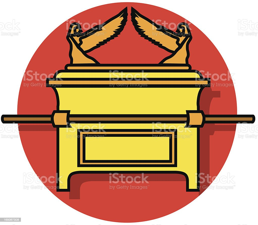 Ark of the Covenant icon vector art illustration