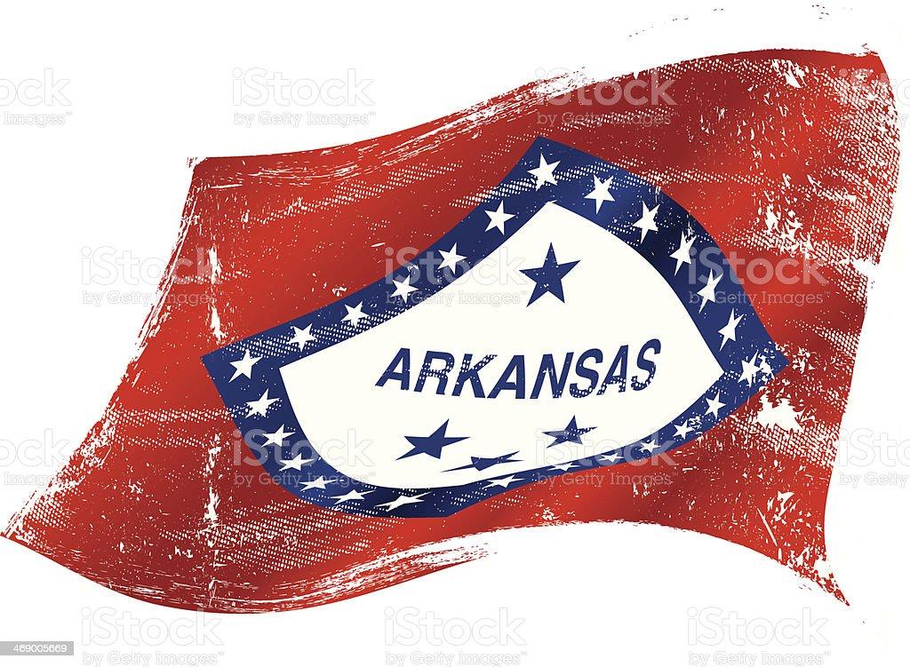 Arkansas flag grunge royalty-free stock vector art