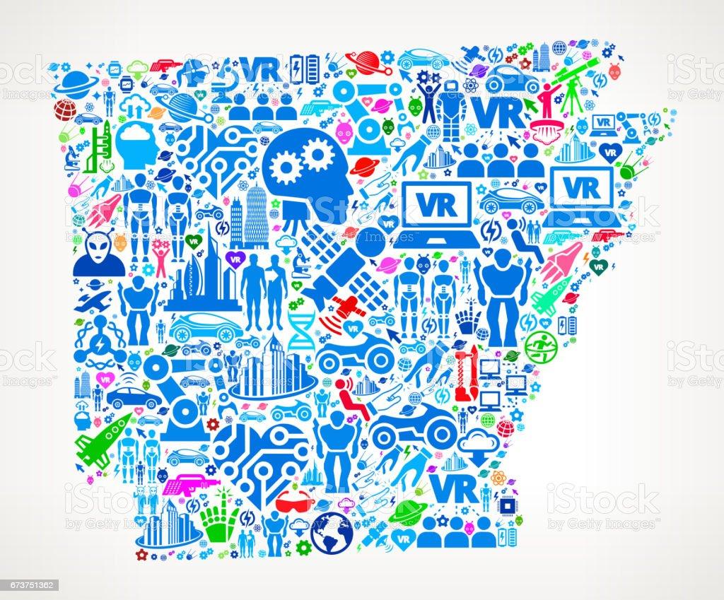 Arkansas gelecek ve fütüristik teknoloji vektör simge arka plan royalty-free arkansas gelecek ve fütüristik teknoloji vektör simge arka plan stok vektör sanatı & abd'nin daha fazla görseli