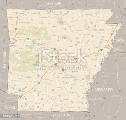 istock Arkansas Map 455423077