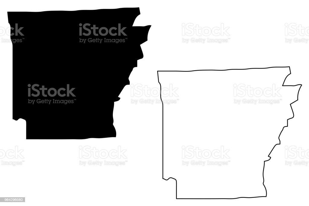 Arkansas map vector vector art illustration