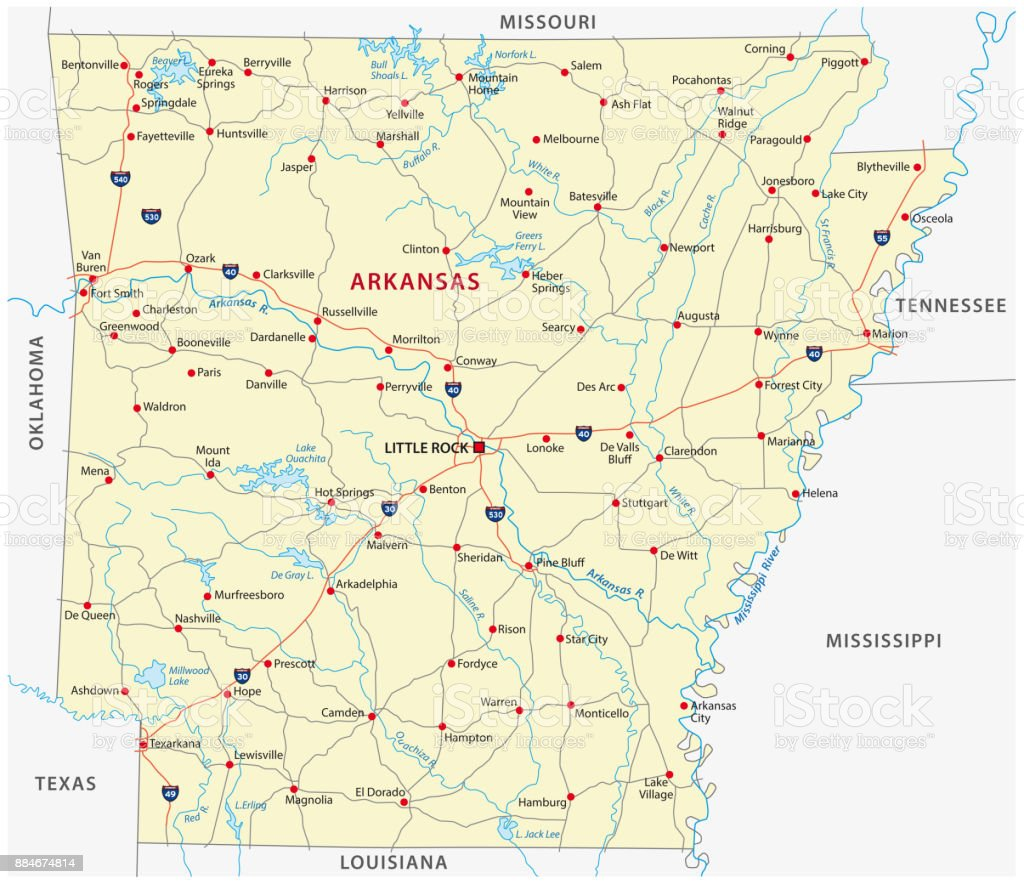 arkansas road map