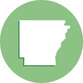 Arkansas Round Map Icon