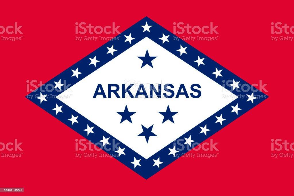 Arkansas state flag. Vector illustration vector art illustration