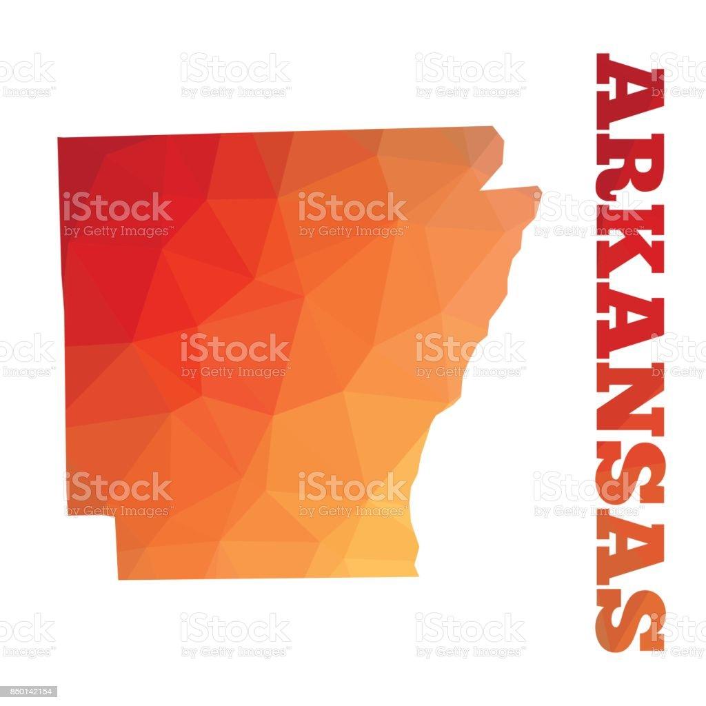 Arkansas vector art illustration