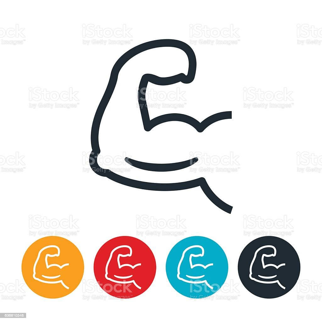 Arm Flexing Icon vector art illustration