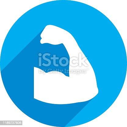 istock Arm Icon Silhouette 1189237606