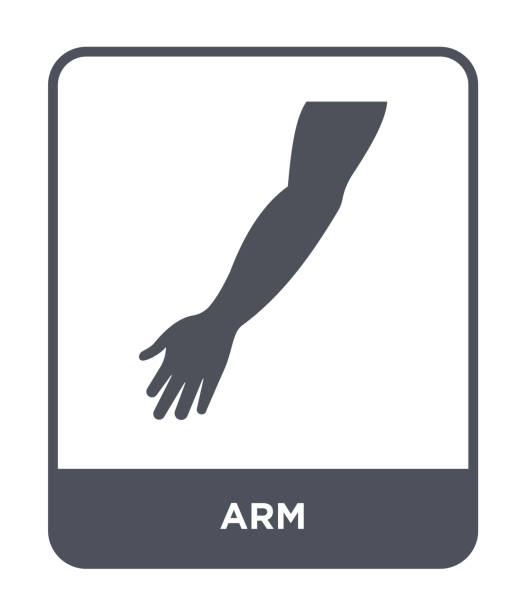 arm icon vector on white background, arm trendy filled icons from Medical collection vector art illustration
