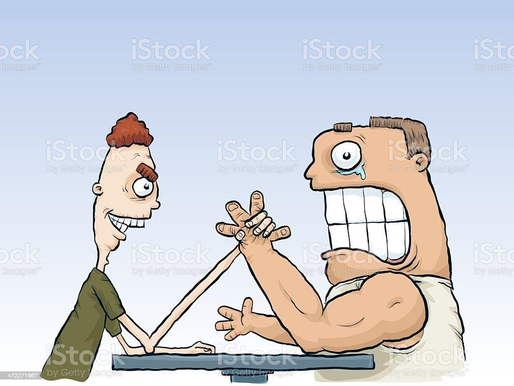 Arm Wrestle vector art illustration