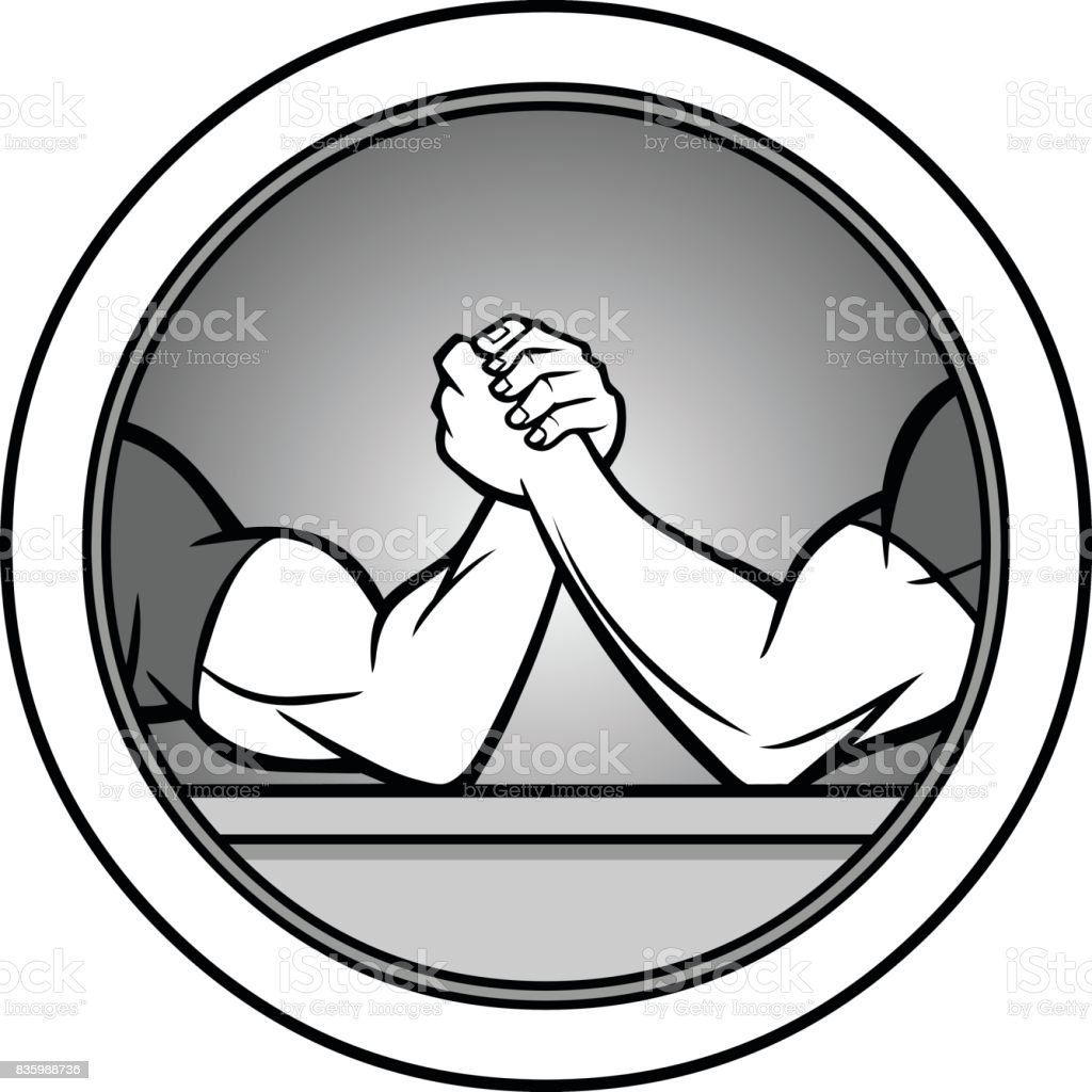 Arm Wrestling Icon Illustration vector art illustration